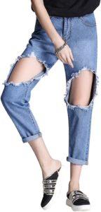 Comodidad, rebeldía, frescura, todo eso transmiten los jeans rasgados. Por algo ahora son los favoritos de las celebrities y tú debes tenerlos.