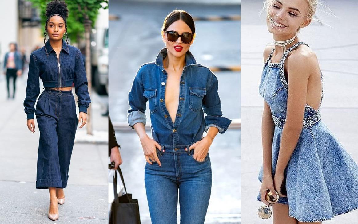 El denim vuelve a ser tendencia; se lo puede encontrar en cualquier prenda del momento. Aquí te comentamos los mejores looks de moda.